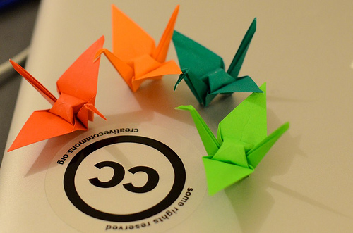 Creative Commons Flickr image on origami and cc by Kalexanderson