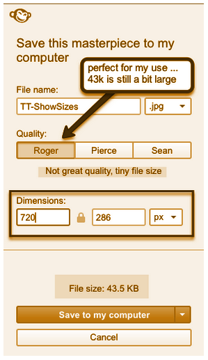 This image shows how to save images as smaller file sizes.